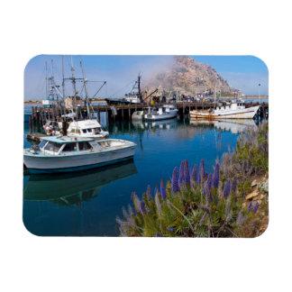 USA, California. Docked Boats At Morro Bay Rectangular Photo Magnet