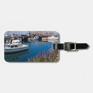 USA, California. Docked Boats At Morro Bay Tag For Luggage