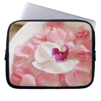 USA, California, Fairfax, Bowl of petals by Laptop Sleeve