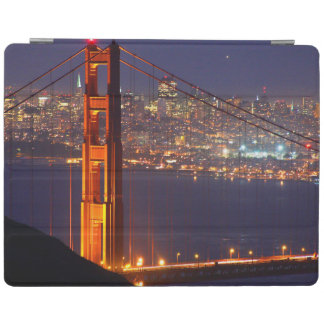 USA, California. Golden Gate Bridge At Night iPad Cover