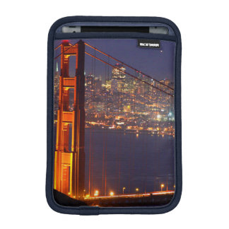 USA, California. Golden Gate Bridge At Night iPad Mini Sleeve