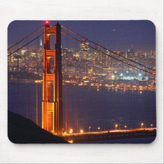 USA, California. Golden Gate Bridge At Night Mouse Pad