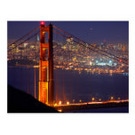 USA, California. Golden Gate Bridge At Night Postcards