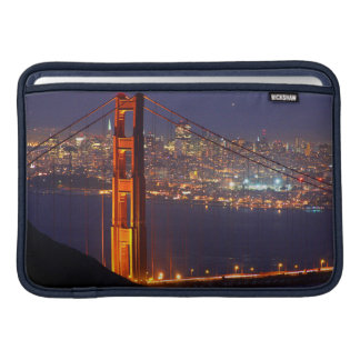 USA, California. Golden Gate Bridge At Night Sleeve For MacBook Air