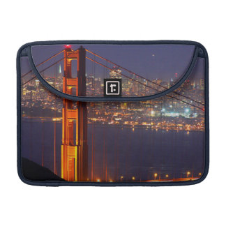 USA, California. Golden Gate Bridge At Night Sleeve For MacBook Pro
