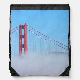 USA, California. Golden Gate Bridge In Morning Drawstring Bag