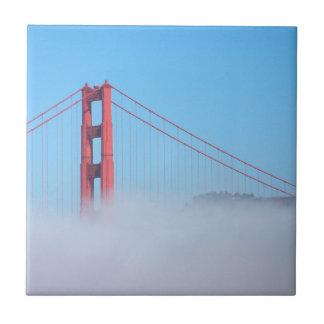 USA, California. Golden Gate Bridge In Morning Tile
