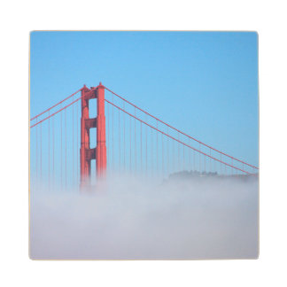 USA, California. Golden Gate Bridge In Morning Wood Coaster