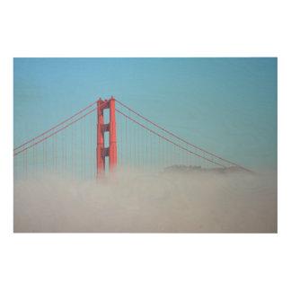 USA, California. Golden Gate Bridge In Morning Wood Prints