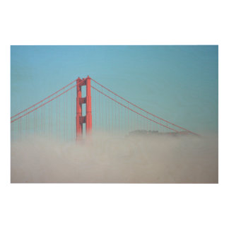 USA, California. Golden Gate Bridge In Morning Wood Wall Decor