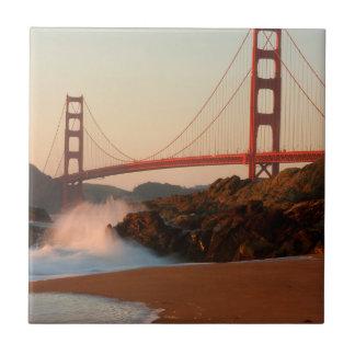 USA, California. Golden Gate Bridge View Tile
