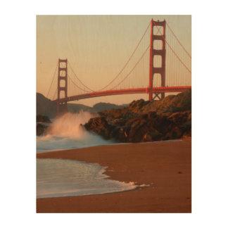 USA, California. Golden Gate Bridge View Wood Canvas