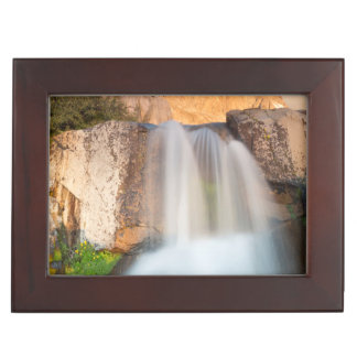 USA, California, Inyo National Forest. Waterfall Keepsake Box