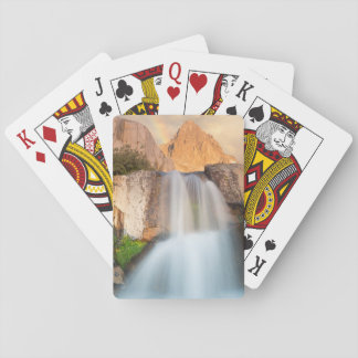 USA, California, Inyo National Forest. Waterfall Playing Cards