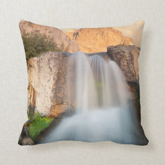 USA, California, Inyo National Forest. Waterfall Throw Pillow