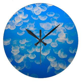 USA, California. Jellyfish In The Monterey Bay Large Clock
