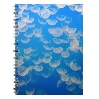 USA, California. Jellyfish In The Monterey Bay Spiral Notebook