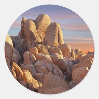 USA, California, Joshua Tree National Park Classic Round Sticker