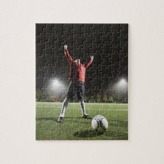USA, California, Ladera Ranch, Football player 2 Jigsaw Puzzle