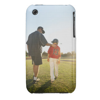 USA, California, Ladera Ranch, man and boy Case-Mate iPhone 3 Cases