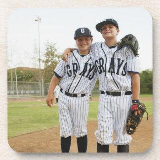 USA, California, Ladera Ranch, two boys (10-11) Drink Coaster