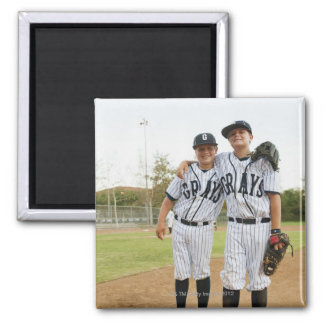 USA, California, Ladera Ranch, two boys (10-11) Square Magnet