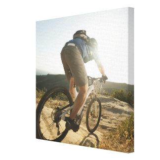 USA, California, Laguna Beach, Mountain biker Canvas Print