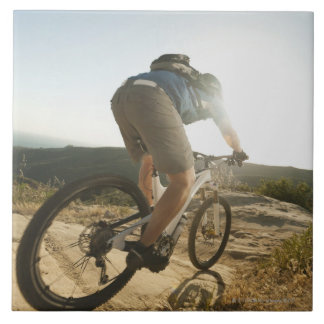 USA, California, Laguna Beach, Mountain biker Tile