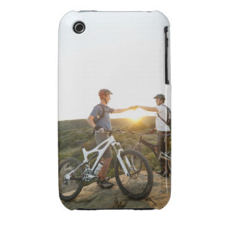 USA, California, Laguna Beach, Two bikers on Case-Mate iPhone 3 Cases