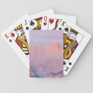 USA, California, Lone Pine. Sunrise Playing Cards