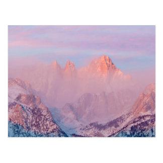 USA, California, Lone Pine. Sunrise Post Card