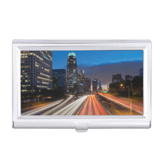 USA, California, Los Angeles, 110 Freeway 2 Business Card Holder