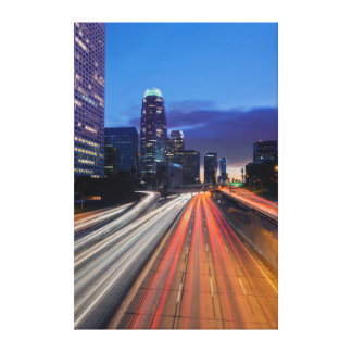 USA, California, Los Angeles, 110 Freeway 2 Canvas Print