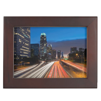 USA, California, Los Angeles, 110 Freeway 2 Keepsake Box