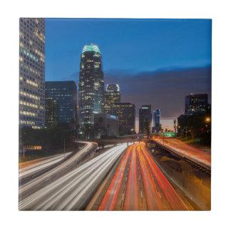 USA, California, Los Angeles, 110 Freeway 2 Small Square Tile