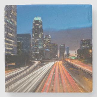 USA, California, Los Angeles, 110 Freeway 2 Stone Beverage Coaster