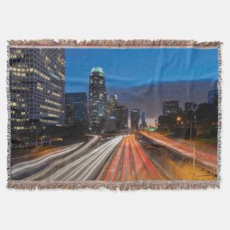 USA, California, Los Angeles, 110 Freeway 2 Throw Blanket
