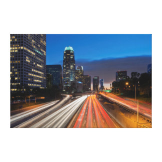 USA, California, Los Angeles, 110 Freeway Gallery Wrapped Canvas
