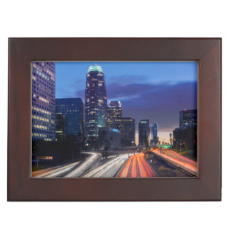 USA, California, Los Angeles, 110 Freeway Keepsake Box