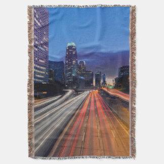 USA, California, Los Angeles, 110 Freeway Throw Blanket