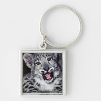 USA, California, Los Angeles County. Close-up Silver-Colored Square Key Ring
