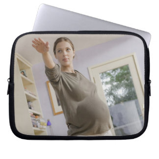 USA, California, Los Angeles, expectant mother Laptop Sleeve