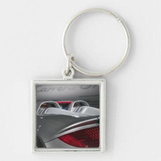 USA, California, Los Angeles: Los Angeles Auto 3 Silver-Colored Square Key Ring