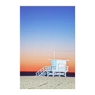 USA, California, Los Angeles, Santa Monica Beach Canvas Print