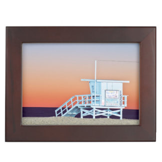 USA, California, Los Angeles, Santa Monica Beach Keepsake Box