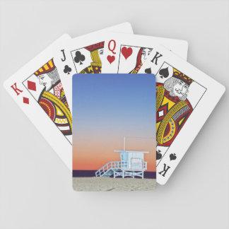 USA, California, Los Angeles, Santa Monica Beach Playing Cards