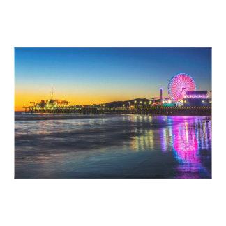 USA, California, Los Angeles, Santa Monica Pier Gallery Wrapped Canvas