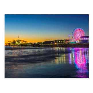 USA, California, Los Angeles, Santa Monica Pier Postcard