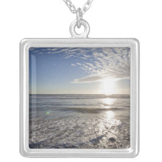 USA, California, Los Angeles, seascape Silver Plated Necklace