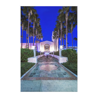 USA, California, Los Angeles, Union Station Stretched Canvas Print
